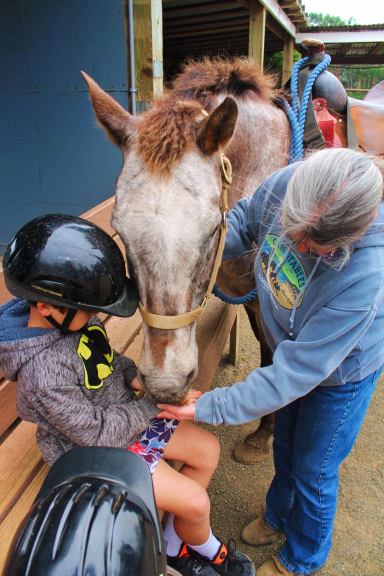 Taylor Family at C & M Stables horseback riding Florence Oregon Coast 9