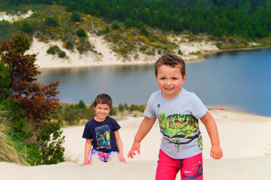 Taylor Family at dunes at Honeyman State Park Sand Dunes Florence Oregon Coast 20