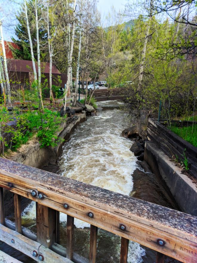 Big Thompson River in Downtown Estes Park Colorado 1