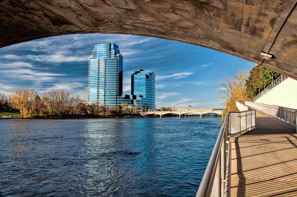 View from along the Grand River walkway