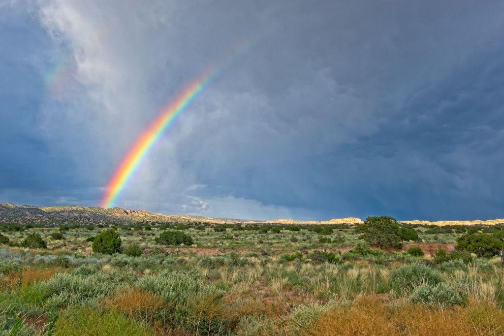 Summer Shower and Rainbow