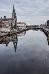 River Lee reflection - that's the Holy Trinity Church & Capuchin Friary on the left