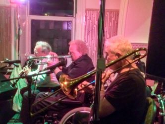 The Bourbon Swing Jazz Band performing in the Metropole Hotel during the Guinness Cork Jazz Festival
