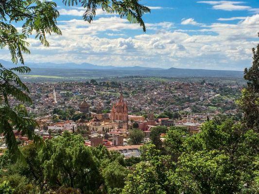 Cityscape view of San Miguel de Allende