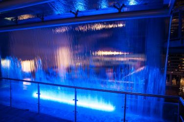 Blue waterfall in Guinness Brewery