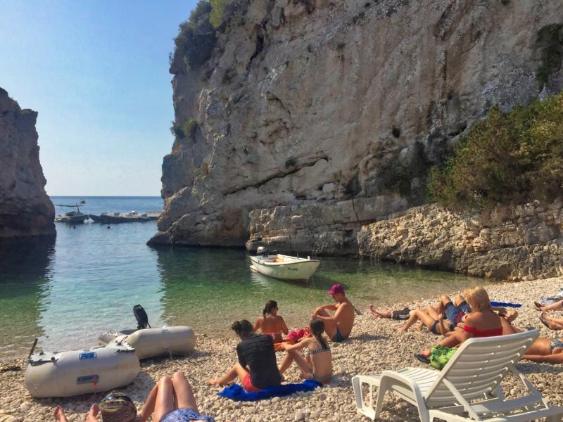 Small beach in Hvar