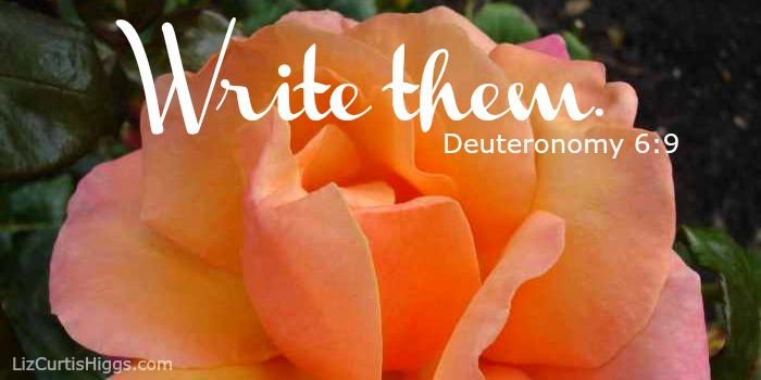 Write them Deuteronomy 6-9