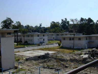 Aliso Village was a housing project in Los Angeles, California. It was built in 1942 and demolished 1999. The 29-acre parcel was replaced by Pueblo del Sol. The complex was owned and managed by the Housing Authority of the City of Los Angeles.