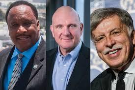 Mayor Butts, Steve Ballmer and Stan Kroenke