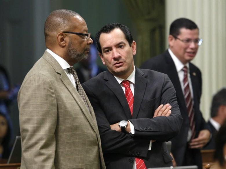 Reggie Jones-Sawyer and Speaker Anthony Rendon