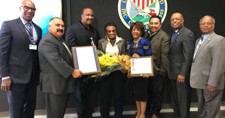 City of Inglewood honors Dr. Wanda Brown (April 4, 2018)