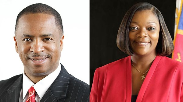 Detroit City Council members Janeé Ayers and Scott Benson