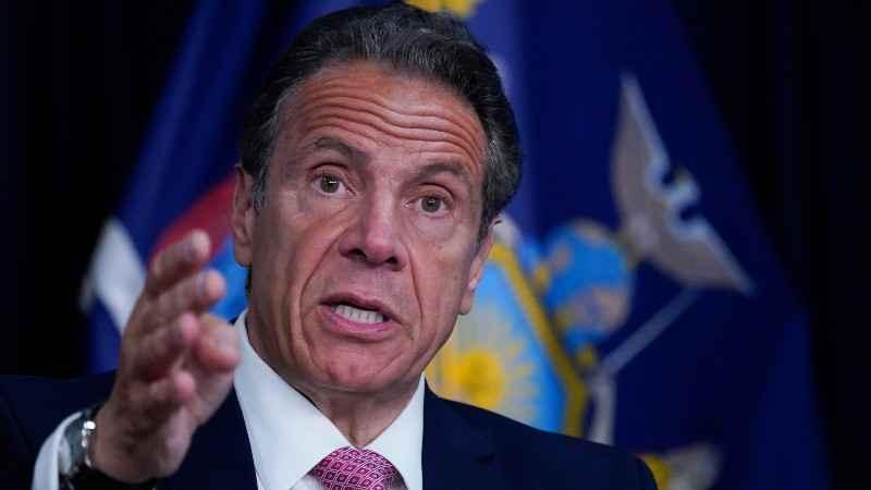 FILE - New York Gov. Andrew Cuomo speaks during a news conference, Monday, May 10, 2021 in New York. Cuomo disclosed Monday, May 17, 2021 that he was paid a $3.1 million advance to write his COVID-19 leadership book last year and under his publishing contract will make another $2 million on the memoir over the next two years. | Photo: AP Photo / Mary Altaffer, Pool.