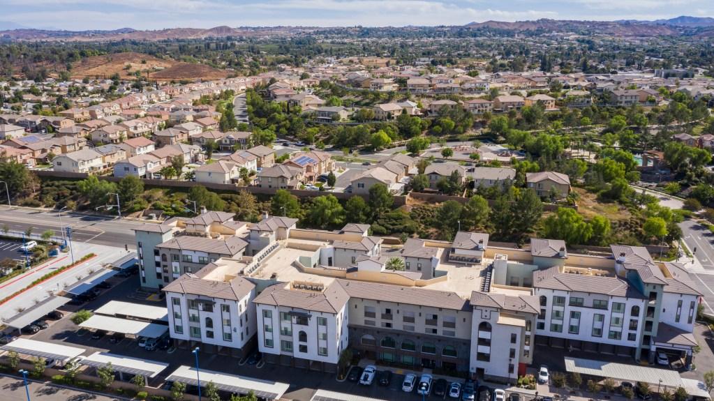 High density suburban neighborhood in Riverside, California. (Source: iStockPhoto)