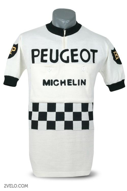 Peugeot BP Michelin, vintage retro cycling, maglia ciclismo 2velo
