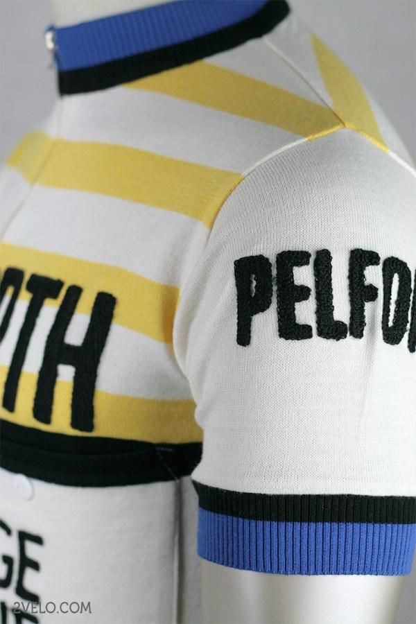Pelforth Sauvage Le Jeune wool jersey, Eddy Merckx, vintage retro cycling, maglia ciclismo 2velo