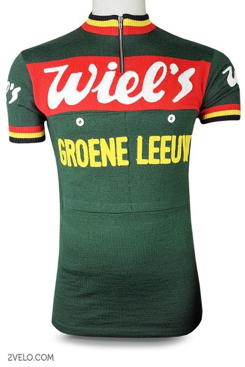 Wiel`s Groene Leeuw vintage retro cycling, maglia ciclismo 2velo