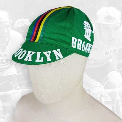 Brooklyn green cycling cotton cap 2VELO