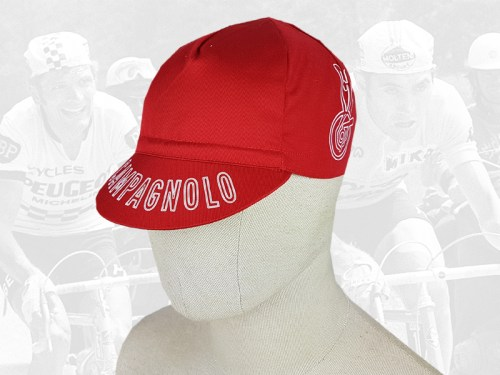 Campagnolo red cycling cotton cap 2VELO