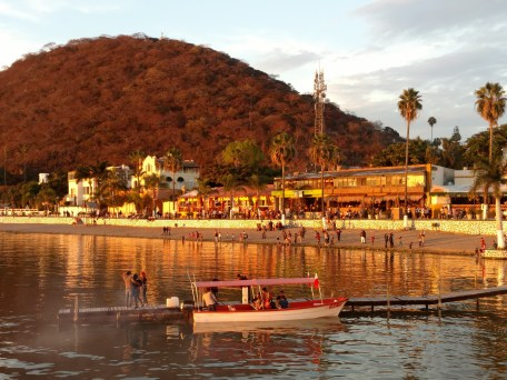 On the boardwalk looking at Chapala