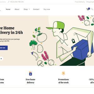 Готовый онлайн магазин бакалеи