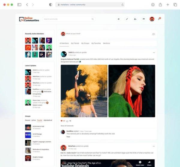Социальная сеть - сообщество