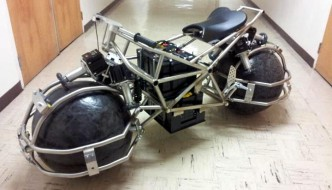 Spherical Drive System electric motorcycle being constructed by students at San Jose State University