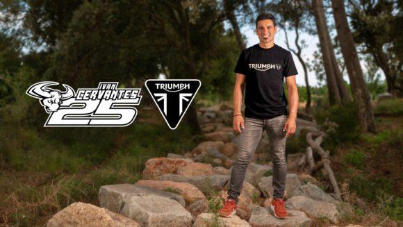Five-time Enduro World Champion Ivan Cervantes.  Photo courtesy of Triumph.