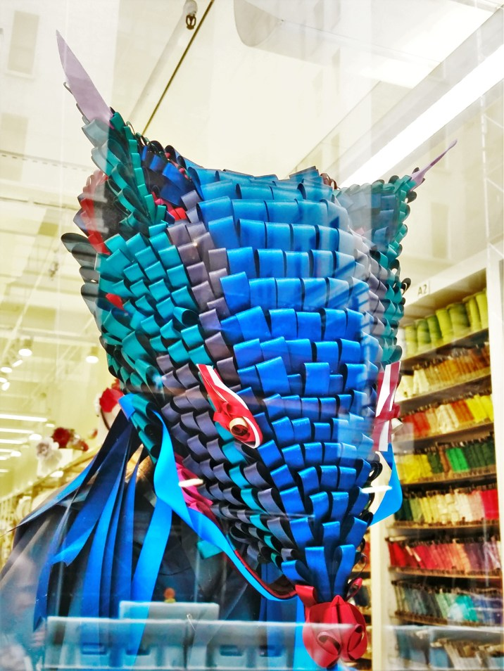 2WN in New York Garment District, creative Shindo ribbons showroom display