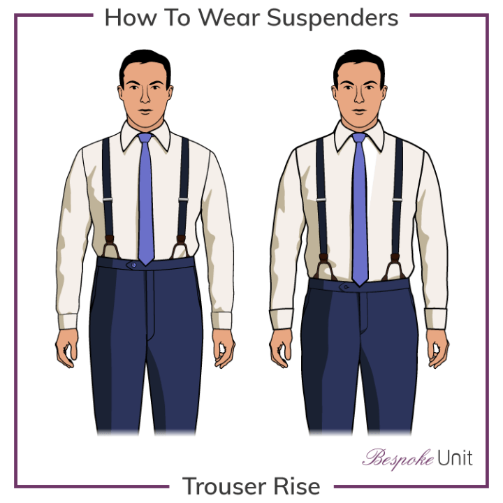 trouser-rise for suspenders