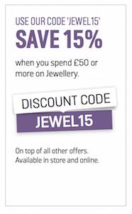 argos jewellery offer valentines