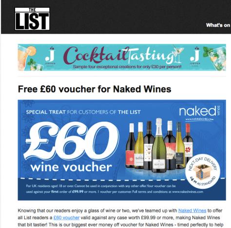 list_co_uk Naked Wines 60 voucher