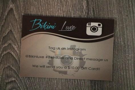 bikini luxe instagram card