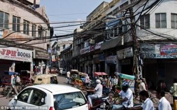 Cruce de cables en la India