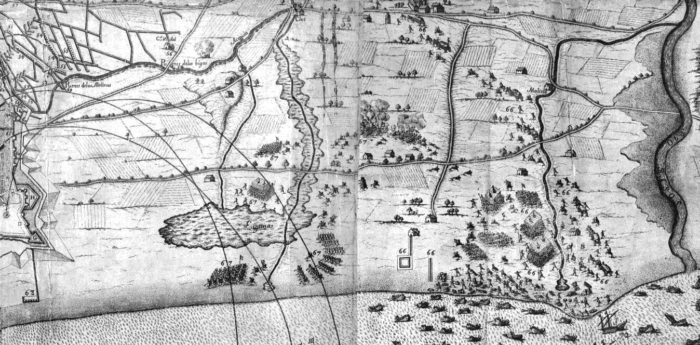 Área del Poblenou en 1697
