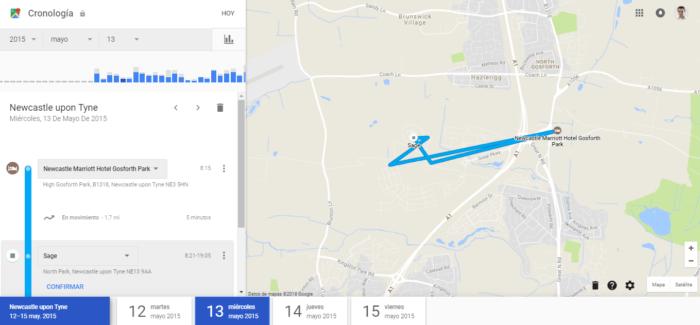 Tu Cronología en Google Maps