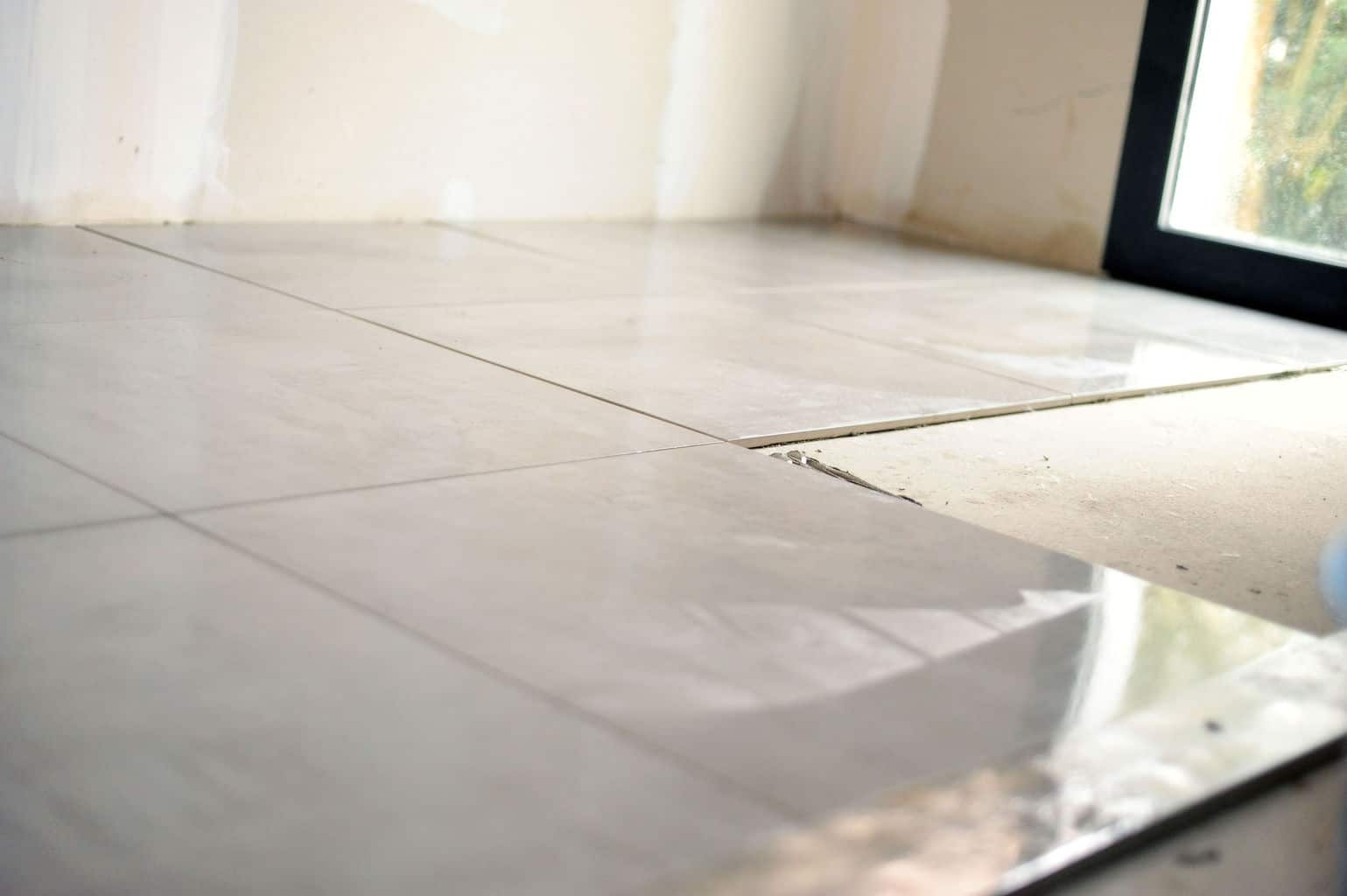 how to install ceramic floor tile on