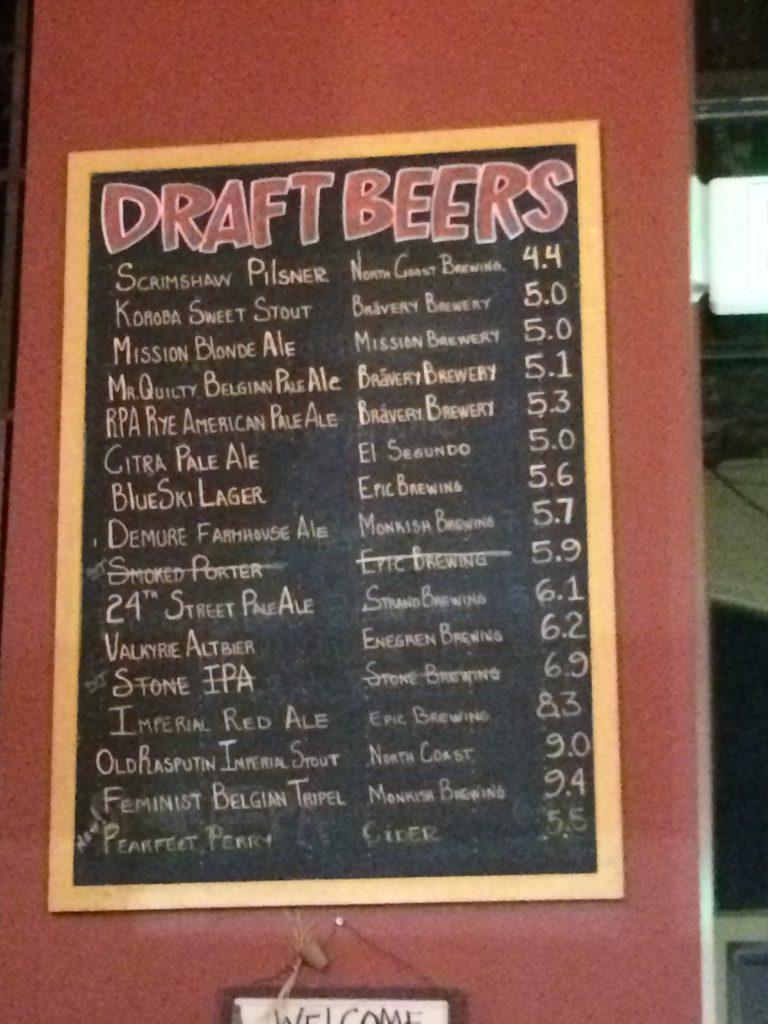 Aji Peruvian's Beer List