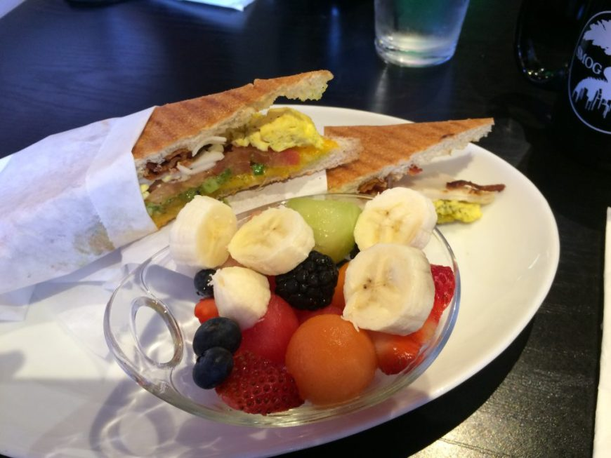 Breakfast Panini, Sexy Style, with fruit