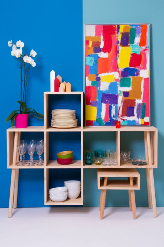 Furniture Inspired by Wooden Boxes and Broomsticks