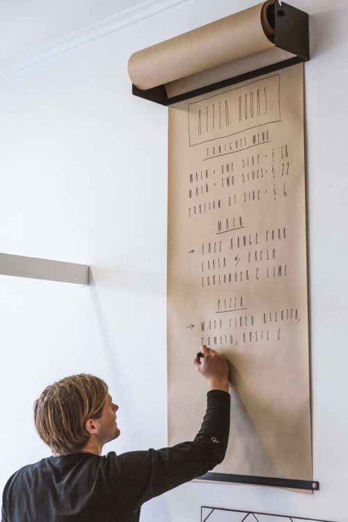Decor in the Workplace Office Space Kraft Paper Wall Mount To-Do List Check It Twice Sharpie Notes
