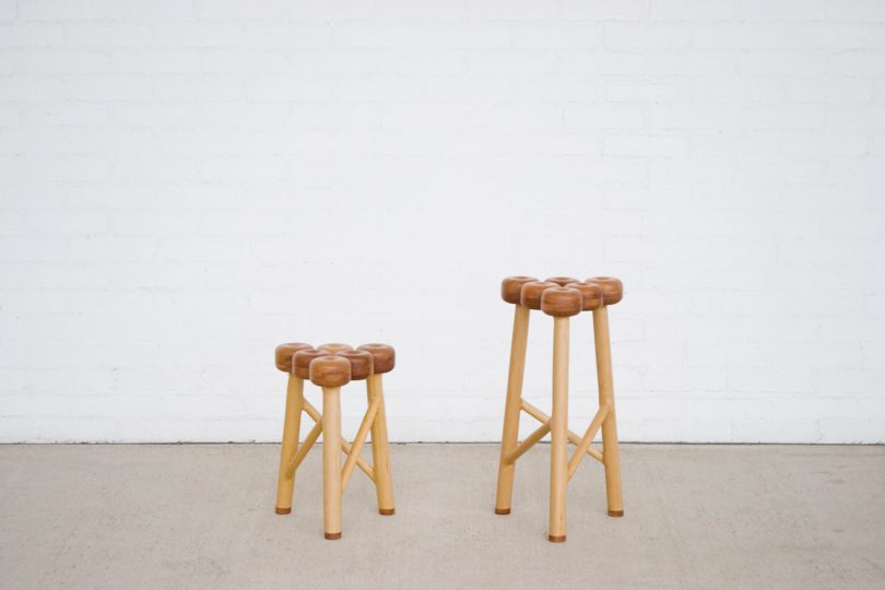 An Apple-Inspired Stool by Takaaki Kamei