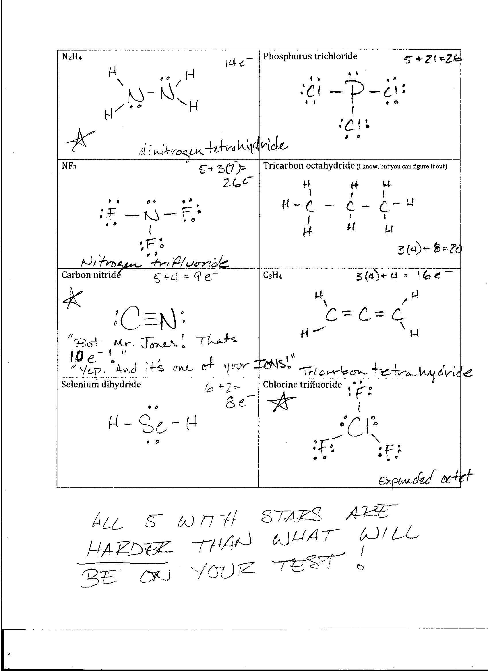 Lewis Dot Diagram And Bohr Model Worksheet