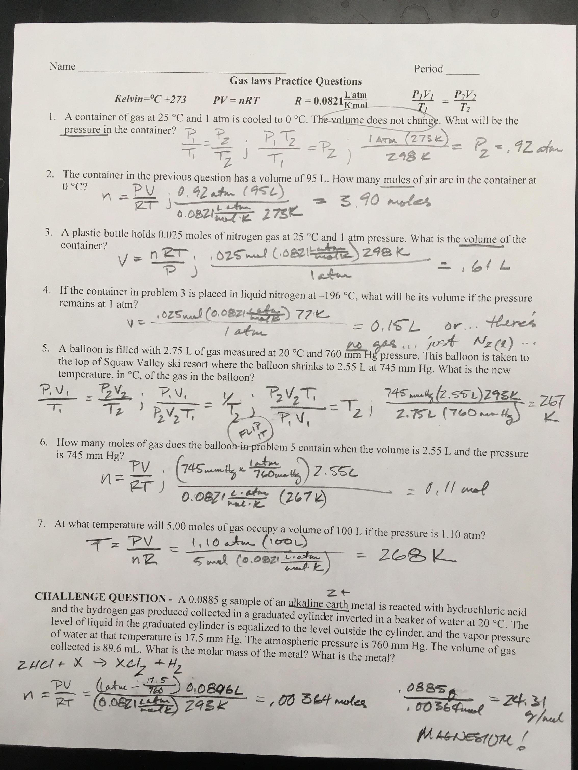 Stoichiometry Mole Mole Problems Worksheet Answers