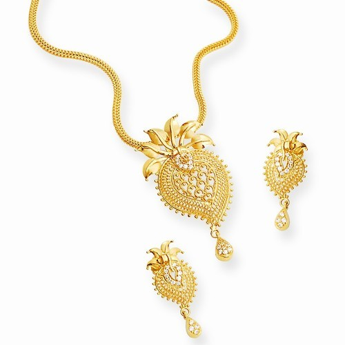 Gold Jewellery Gold Pendant Set Wholesale Trader From Delhi