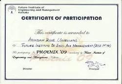 Certificate In C C सर ट फ क ट क र स In