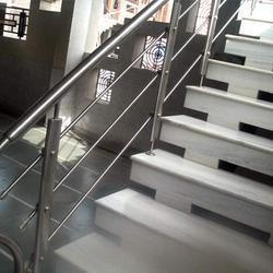 Steel Handrails For Stairs With Magnificent Stainless Staircase