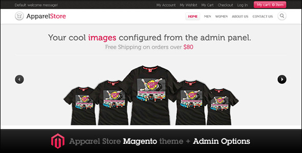 Apparel Store Magento theme - ThemeForest Item for Sale