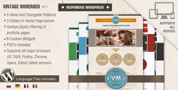 Vintage Plongé - Multipurpose WordPress Theme