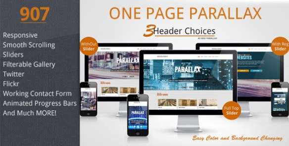 907 - Responsive One Page Parallax
